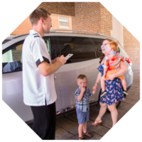 valet servicing family